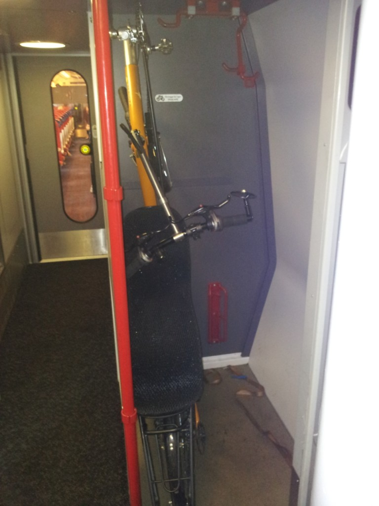 Just About Fits In Virgin Trainu0027s Vertical Bike Storage. Not Sure The Guard  Was Too Impressed