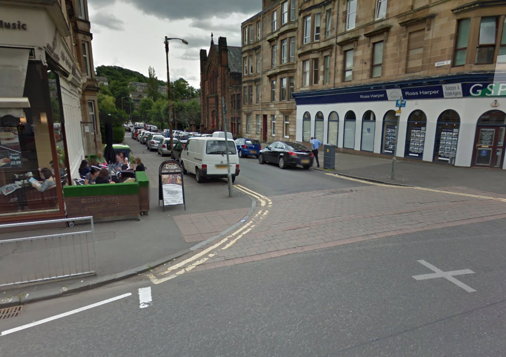 Back to Googlemaps, this time looking down Regwood St.