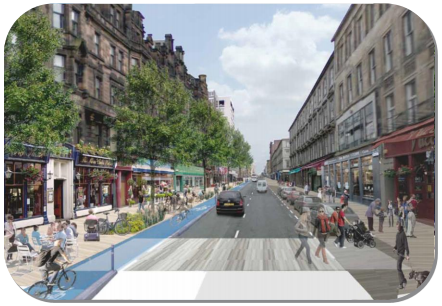 View of one of the proposed avenues