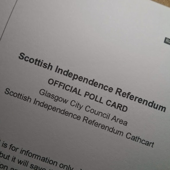 Cover of my independence poll card