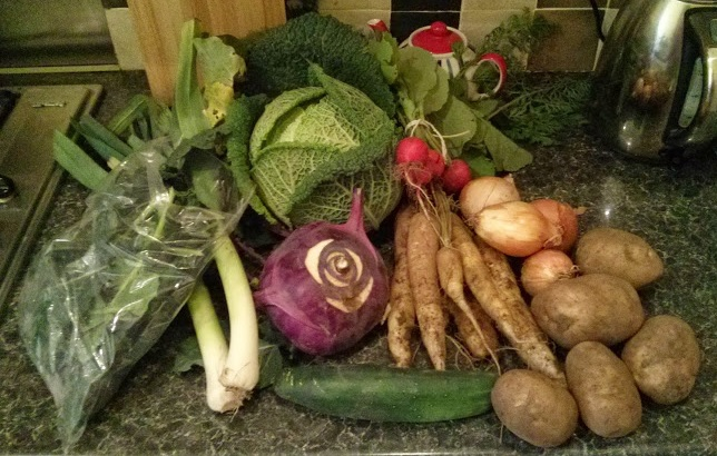 A variety of locavore veg