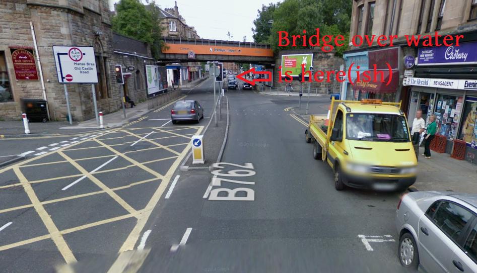 The Clarkston Road railway bridge junction.