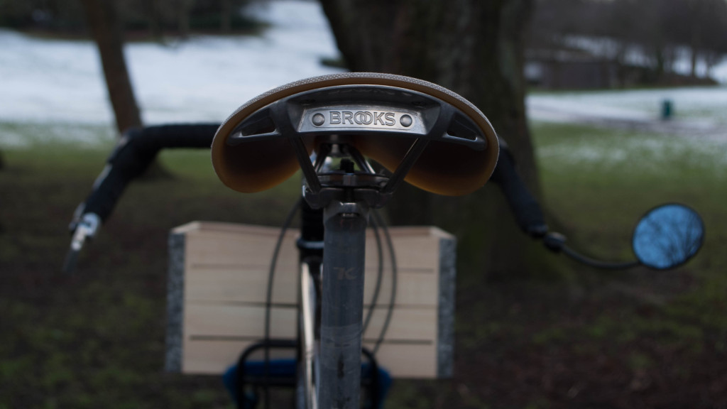 Brooks saddle from behind