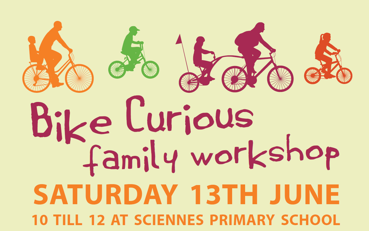 Bike curious family workshop flyer