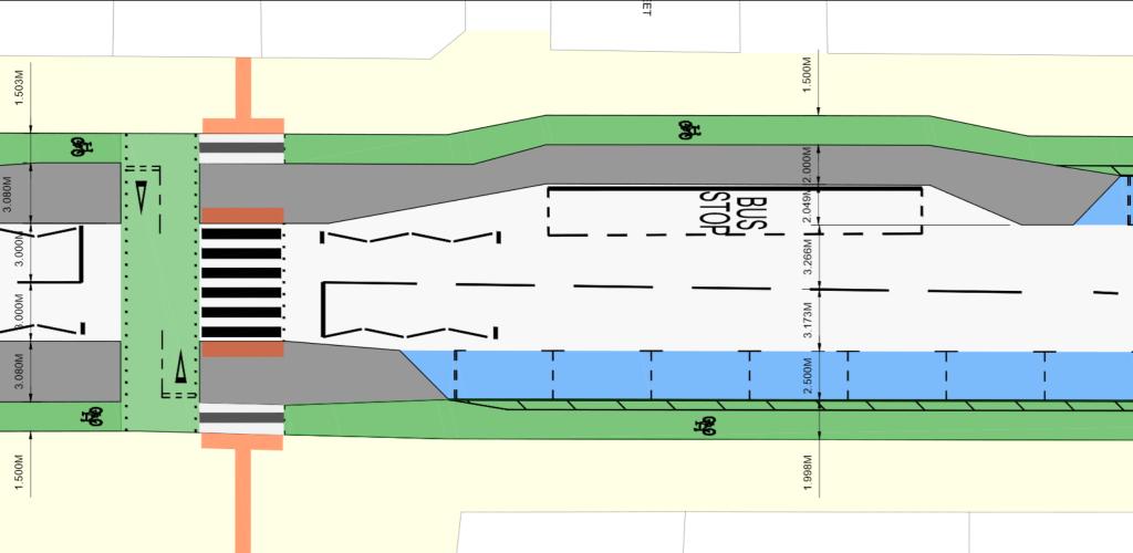 Detail on Victoria Rd design