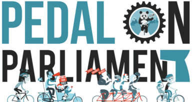 pedal on Parliament banner